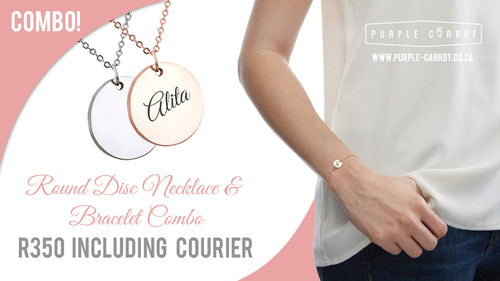 Round Disc Combo necklace+bracelet+courier