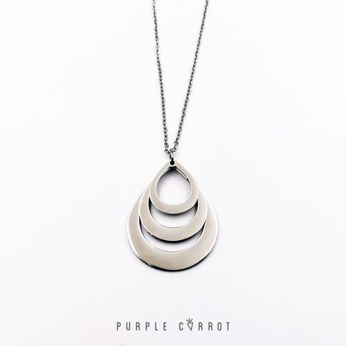 Teardrop Personalised Necklace + FREE Chain