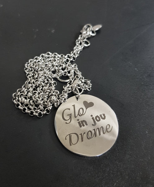 Round disk with 60cm Necklace