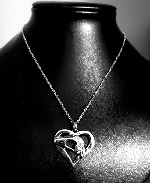 Mother & Child Heart Pendant + FREE chain