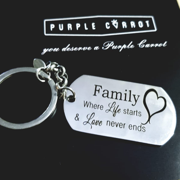 I love my Family keychain