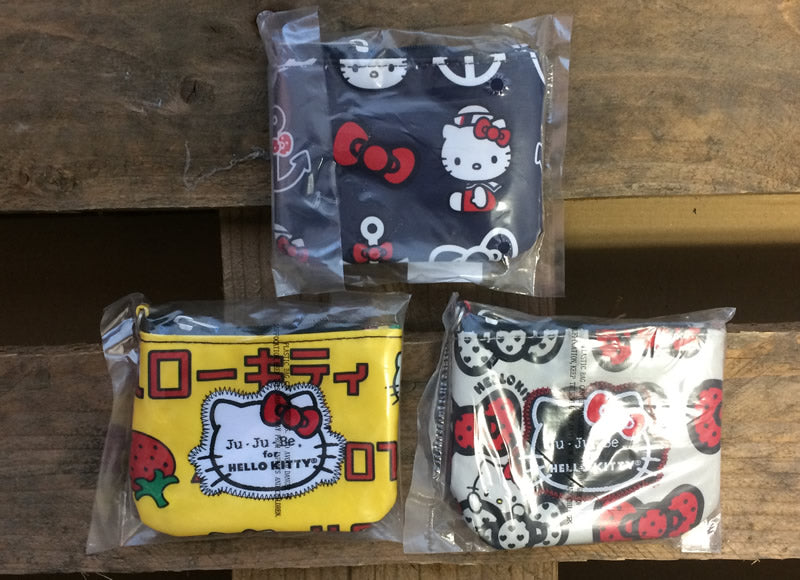 Hello Kitty coin purse trio