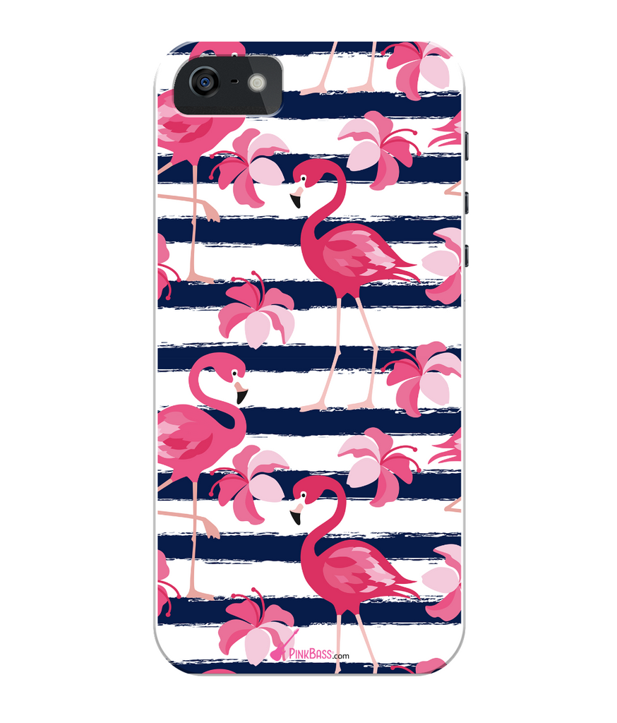 Pink Bass iPhone 5/5s Full Wrap Case iPhone 5s Flamingos