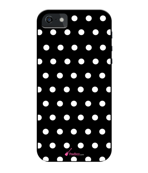 Pink Bass iPhone 5/5s Full Wrap Case iPhone 5s White Dots