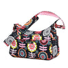 Ju-Ju-Be HoboBe diaper bag in Dancing Dahlias *