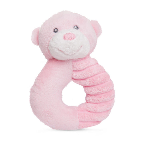 Bonnie Ring Rattle Pink plush toy 5.5In / 14 cm