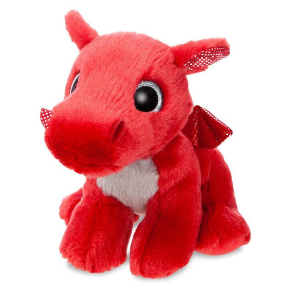 Sparkle Tales Flame Red Dragon plush toy 7In / 18 cm
