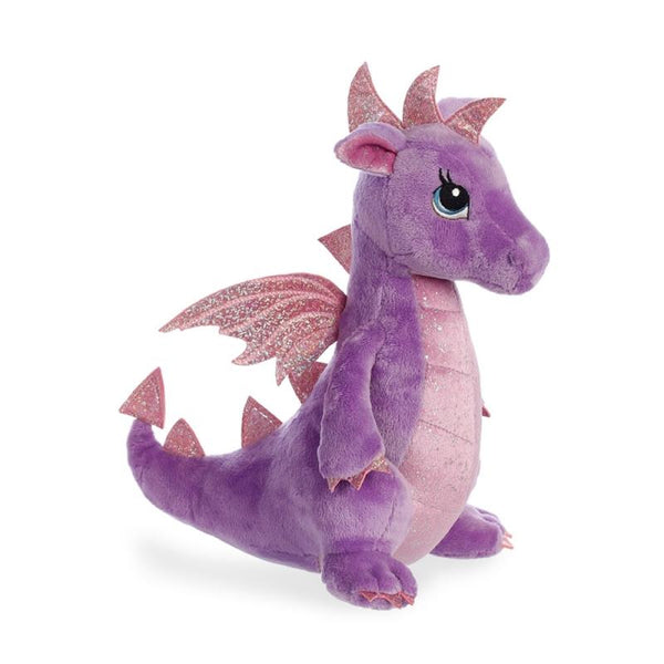 Sparkle Tales Larkspur Purple Dragon plush toy 12In / 30 cm