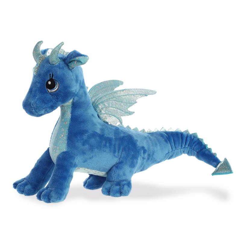 Sparkle Tales Indigo Blue Dragon plush toy 12In / 30 cm