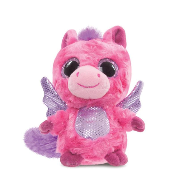 Cerise Pegasus Hot Pink plush toy 5In / 13 cm