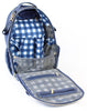Itzy Ritzy Boss Diaper Backpack in Navy Gingham