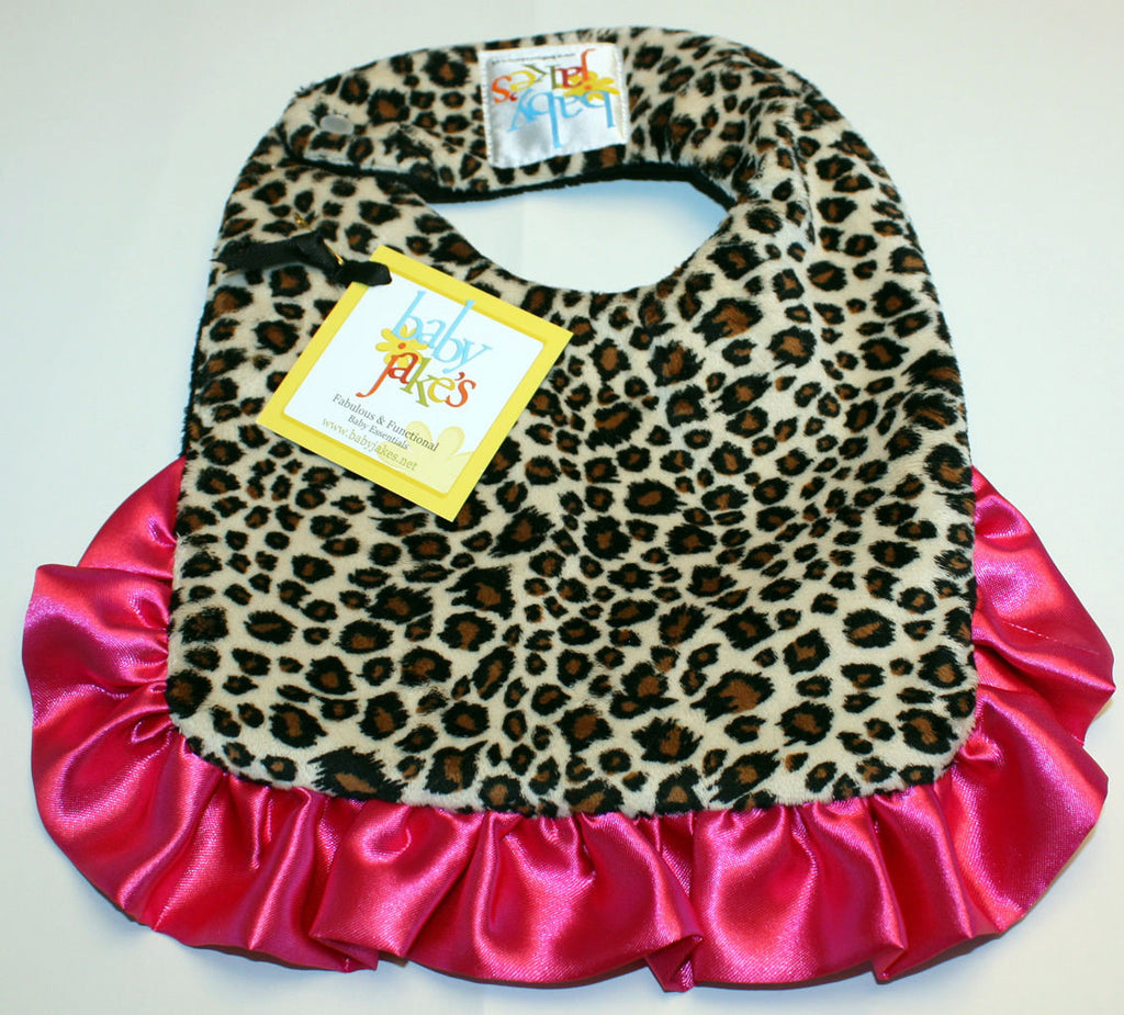 Baby Jake's reversible cheetalicious bib