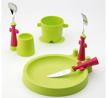 Rivadossi Puppets Club children's dining set - Green