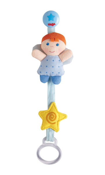 Haba Pacifier chain Little Guardian Angel Blue Boy