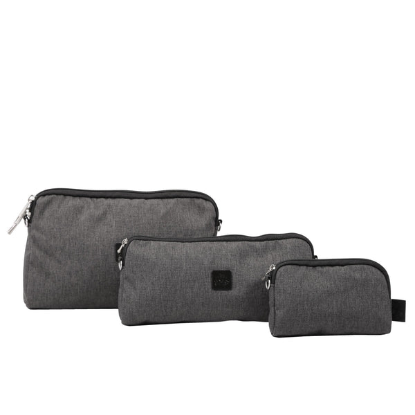 Ju-Ju-Be Onyx Be Set pouch set in the Chrome *