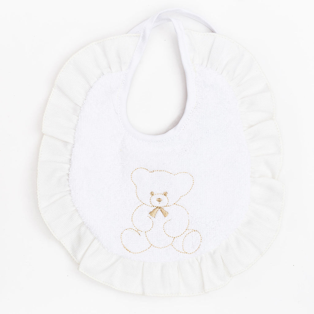 Fortunino Deluxe bib Orsacchiotto in Ivory