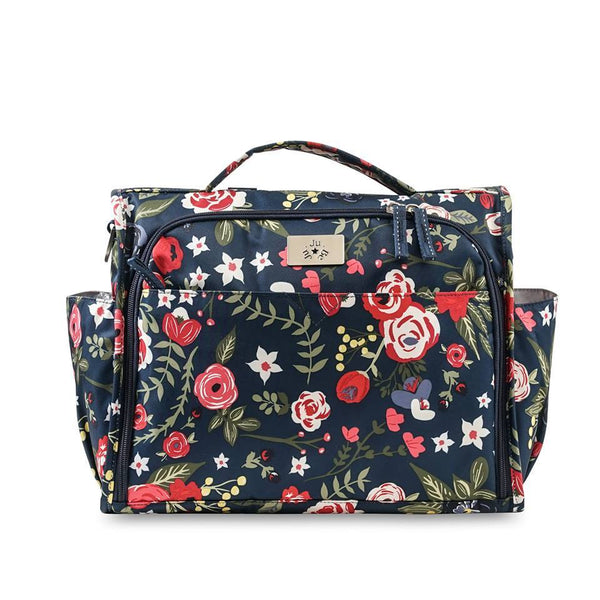 Ju-Ju-Be Classic Convertible diaper bag in Midnight Posy *