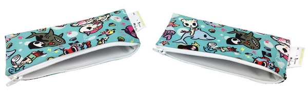 Tokidoki x Itzy Ritzy Snack Happens Mini 2-pack Snack Bag Underwater Adventure
