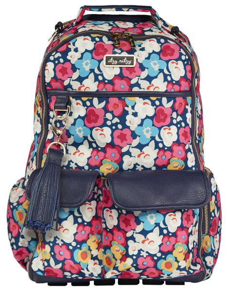 Itzy Ritzy Boss Diaper Backpack in Posy Pop