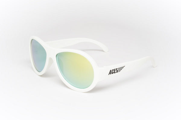 Babiators Aces Shades Wicked White with Orange lens for 7 - 14 years