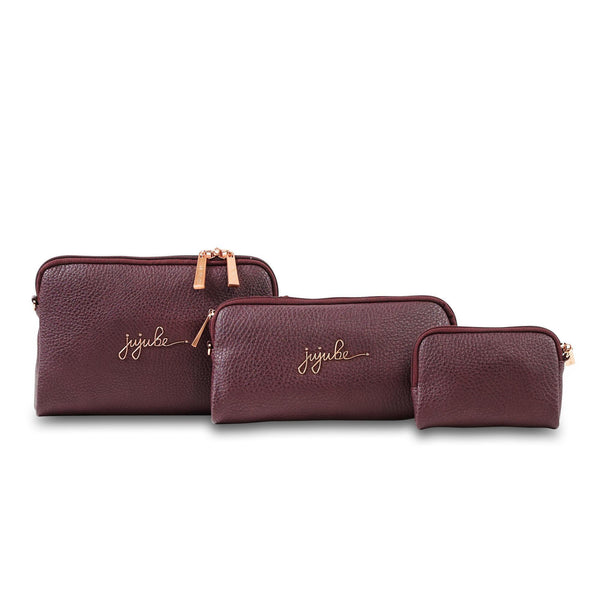 Ju-Ju-Be Ever Rose Gold collection Be Set pouch set in Plum