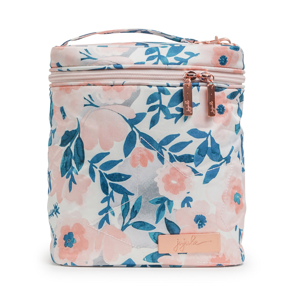 Ju-Ju-Be Rose Gold Fuel Cell in Whimsical Watercolor with Pink Lining *