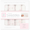 SwaddleDesigns Muslin Swaddle Blankets in Pastel Pink. Set of 4