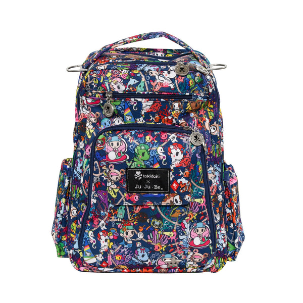 Ju-Ju-Be x Tokidoki Be Right Back diaper backpack in Sea Punk *