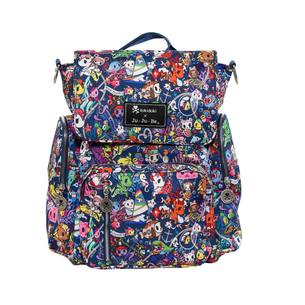 Ju-Ju-Be x Tokidoki Be Sporty diaper backpack in Sea Punk