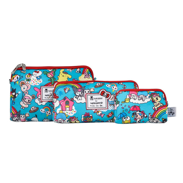 tokidoki for Hello Sanrio by Ju-Ju-Be Be Set pouch set in Rainbow Dreams *