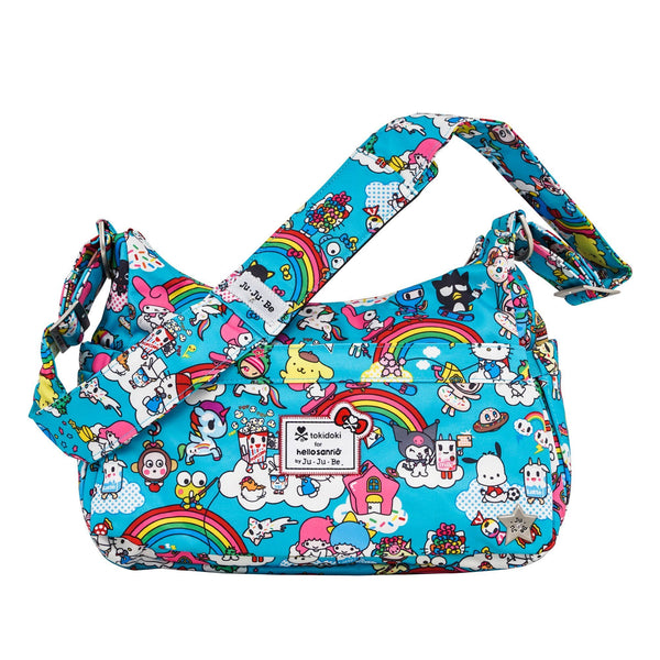 tokidoki for Hello Sanrio by Ju-Ju-Be HoboBe changing bag Rainbow Dreams *