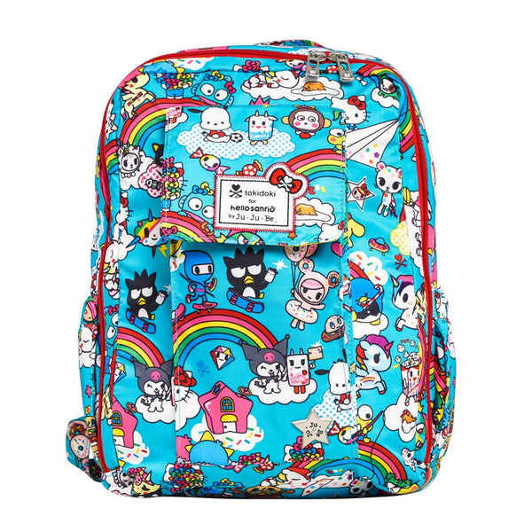 tokidoki for Hello Sanrio by Ju-Ju-Be Mini Be backpack in Rainbow Dreams *