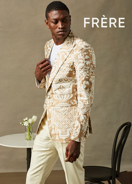 Cream Wool w/ 18k Gold accents Dinner Jacket