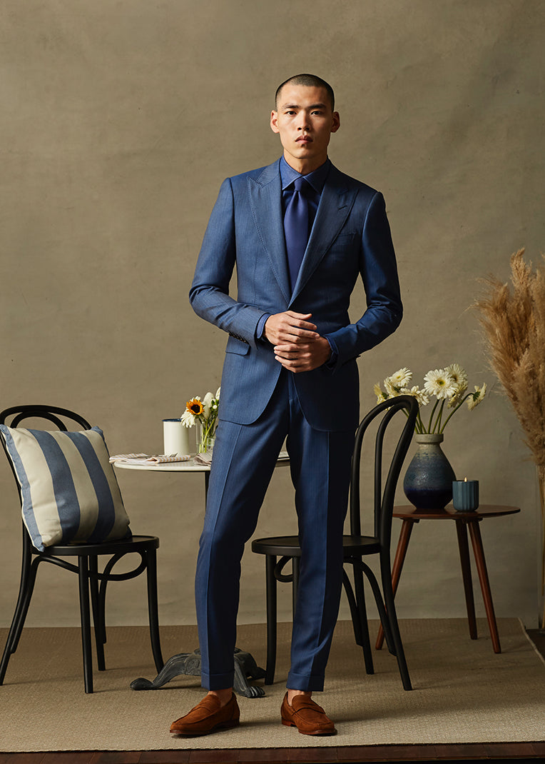 Navy Solaro Two Piece Suit
