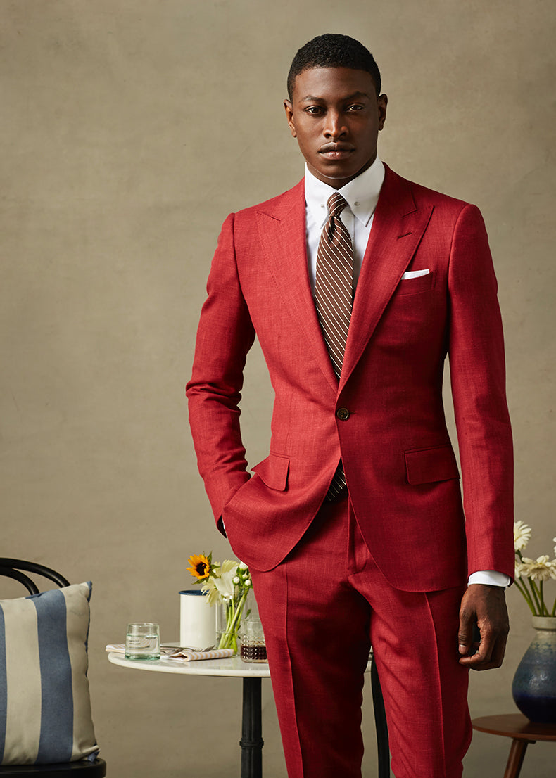 Crimson Red Two Piece Suit