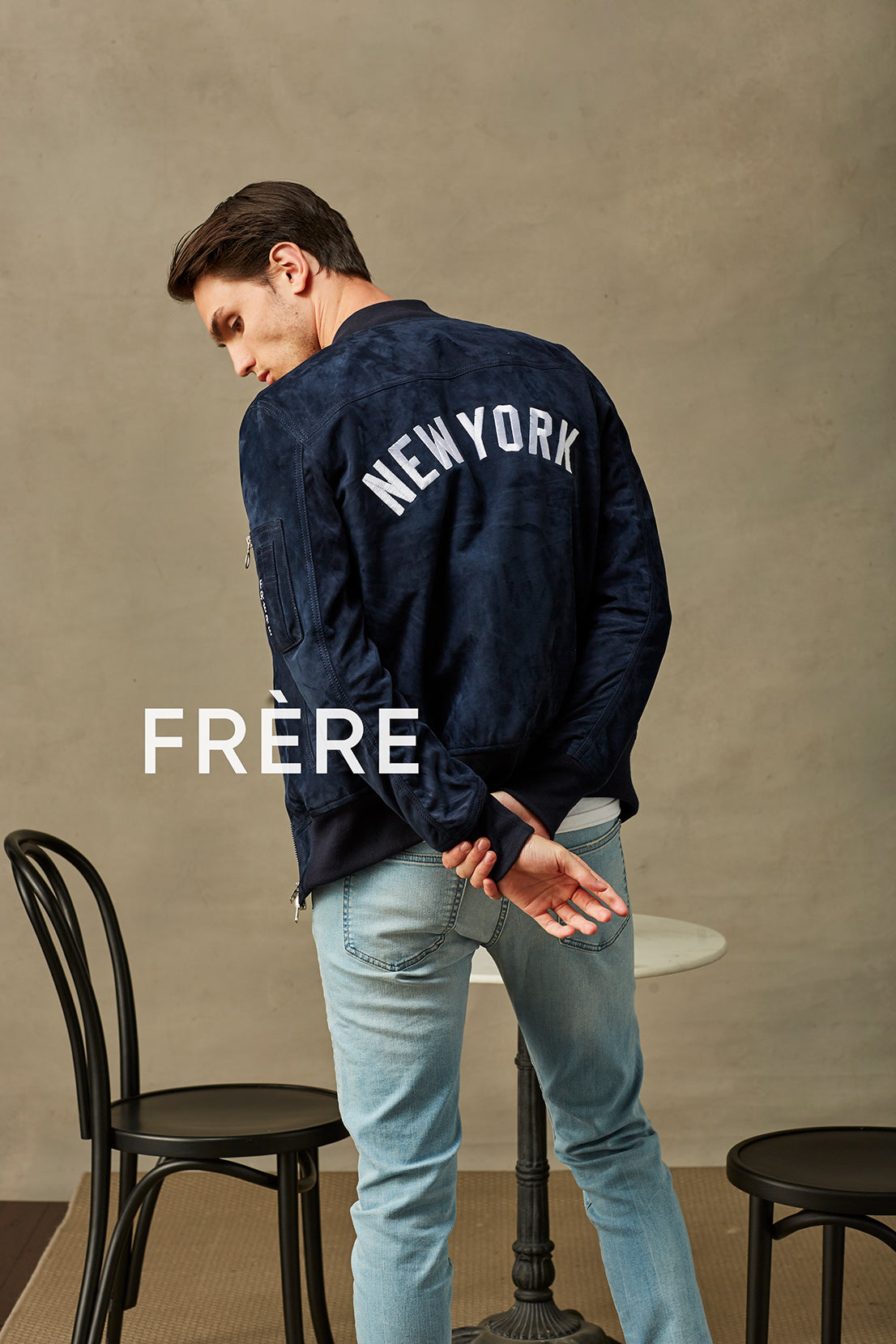 Navy New York MA1 Bomber Jacket
