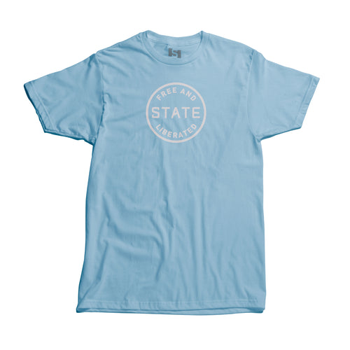 Free and Liberated T-Shirt Light Blue