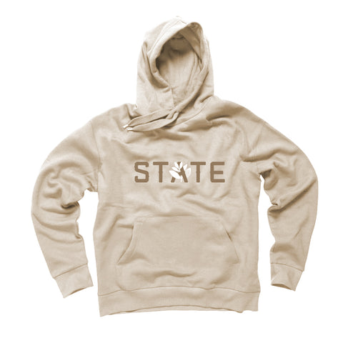 Magenta X State Burgundy Hooded Sweatshirt