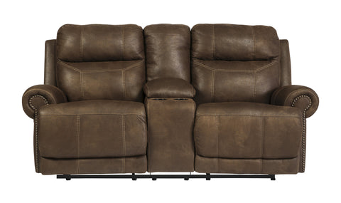 Ashley Furniture Austere Reclining Love Seat with Console