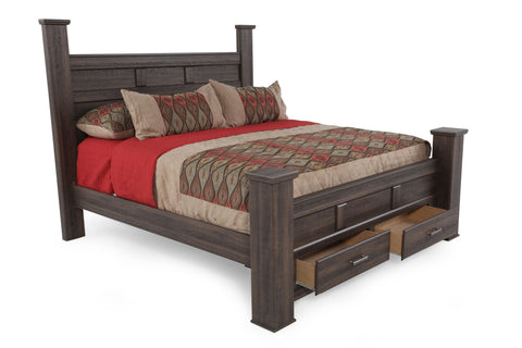 Ashley Furniture Juararo King Poster Storage Bed