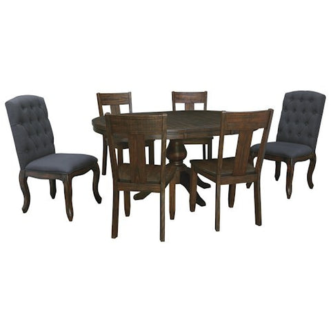 Ashley Furniture Trudell 5 Piece Oval Extension Dining Set