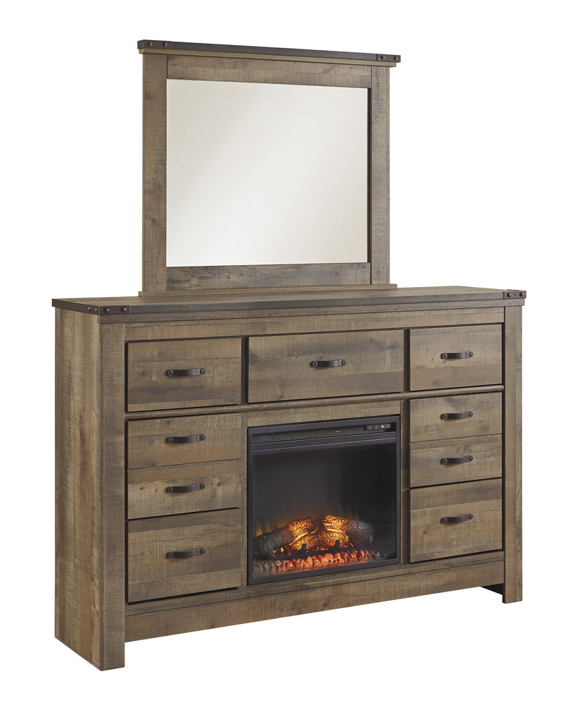 Ashley Furniture Trinell Dresser With Fireplace
