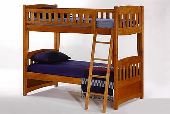 Night & Day Cinnamon Twin/Twin Bunk Bed