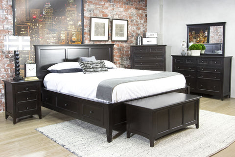 A-America Westlake 6 Piece Queen Storage Bedroom Set