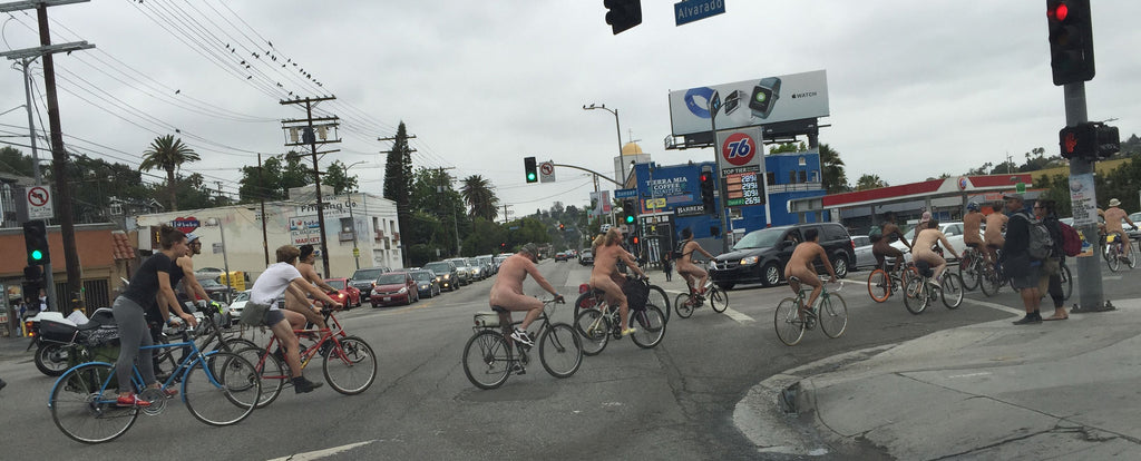 Naked Bike Riders in Los Angeles