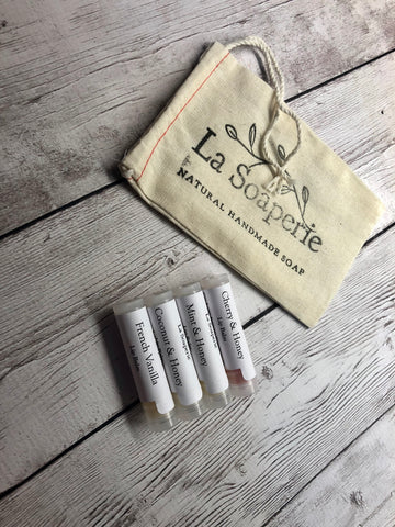 4 Pack of Lip Balm - La Soaperie