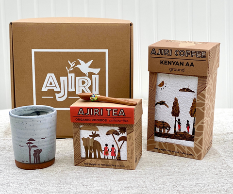 Ajiri Coffee, Tea, and Tumbler Gift Set