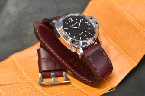 Aubergine Horween Leather Watch Strap