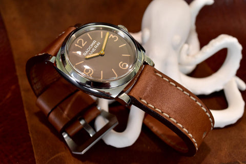 Horween Whiskey Cavalier Leather Watch Strap