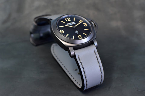 Just Gray Leather Watch Band